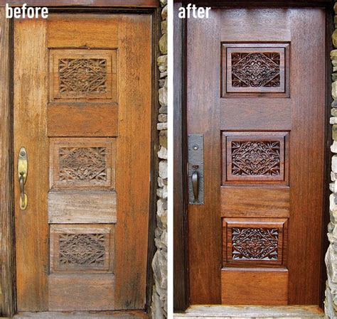 Refinishing Wood Doors Interior How To Refinish An Entry Door House