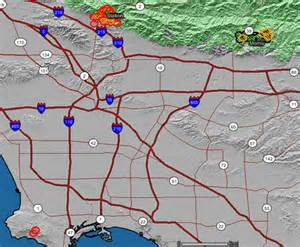 southern california fires map map of three southern california fires wildfire today