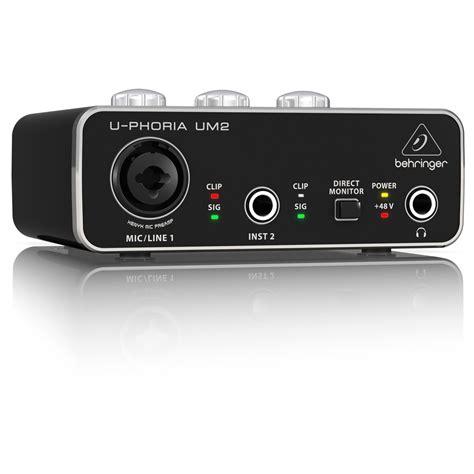 Usb Audio Interface behringer u phoria um2 usb audio interface at gear4music