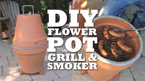 Blumentopf Grill by Diy Flower Pot Grill Smoker