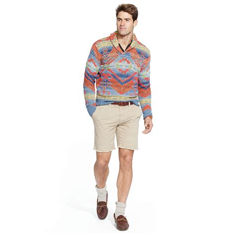 Sweater Inspired polo ralph southwestern inspired sweater for lyst