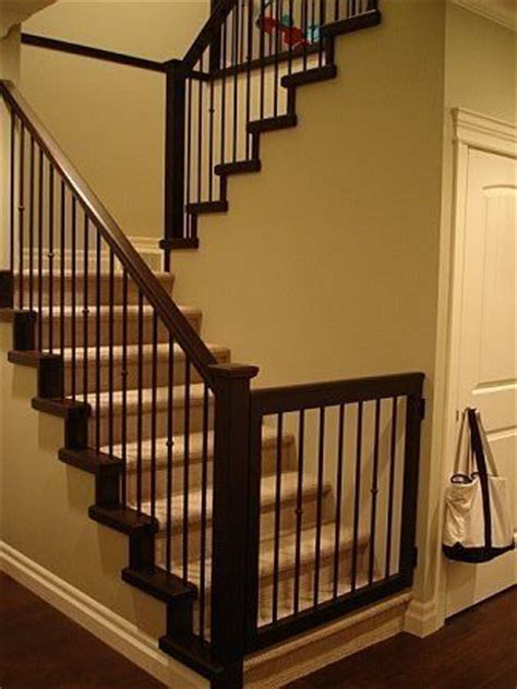 gate for top of stairs with banister baby gate to match banister bambinos pinterest baby gates