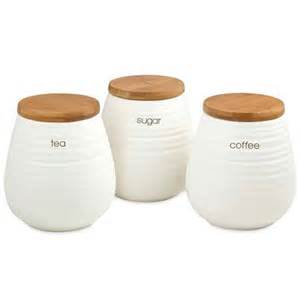 Unique Kitchen Canisters Sets davis amp waddell tea coffee and sugar canister set 3pce