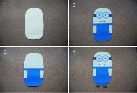 How To Make A Minion Out Of Construction Paper - the pink doormat minion paper doll