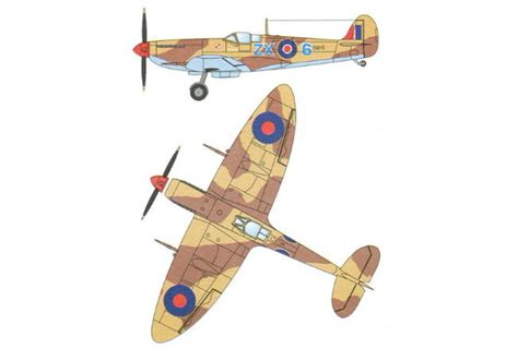 How To Make A Paper Spitfire - wwii supermarine spitfire mk ixc fighter free aircraft