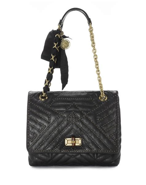 Lanvin Happy Bag by Lanvin Medium Studded Lambskin Happy Bag Shoulder Bag