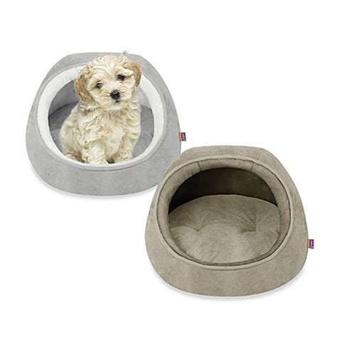 halo dog bed halo 174 unisuede hooded snugglers bed bath beyond