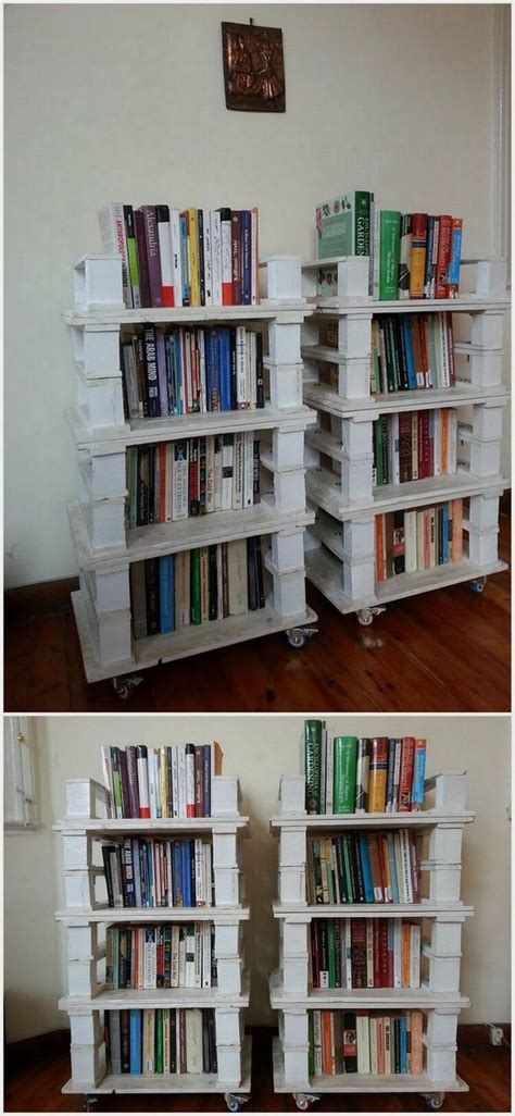 25 best ideas about pallet bookshelves on