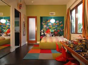 houzz kids bedrooms green walls and pops of color for a fun kid room