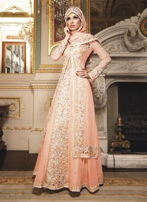 Dress Pesta Indian Style fancy wear formal hijabs abaya collection 2018 2019