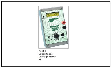 capacitor leakage meter digital capacitance leakage meter kit electronics repair and technology news