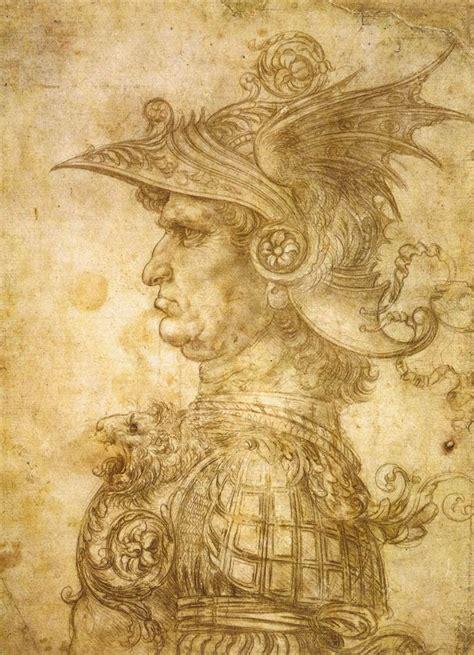 leonardo da vinci biodata profile of a warrior in helmet leonardo da vinci