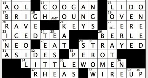 Brief Word Crossword Clue Rex Does The Nyt Crossword Puzzle Brightest In Aquila Thu 6 5 14 1990s Politico