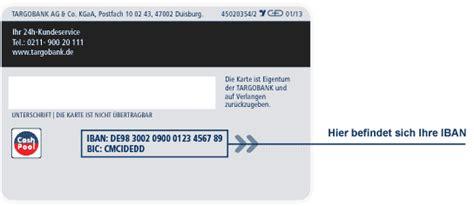 deutsche bank iban nummer sepa iban bic bei der targobank