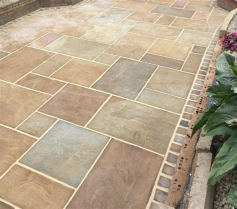 indian sandstone paving patio flags garden