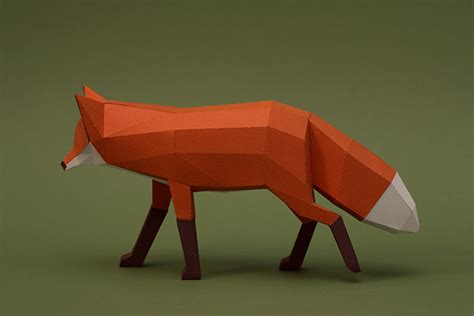 Papercraft Fox - amazing paper craft animals by studio guardabosques