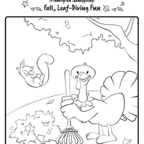 fall coloring page leaf diving fun story time crafts