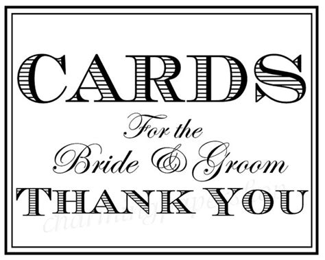 printable wedding card box sign wedding signs thank you signs wedding cards by