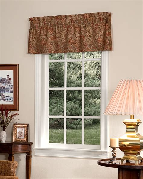 Tailored Valances For Windows Patna Paisley Tailored Insert Valance Pretty Windows 174