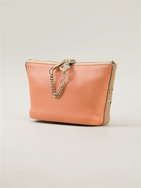 Hermes Jelly Bag 8802 lyst chlo 233 baylee clutch in orange
