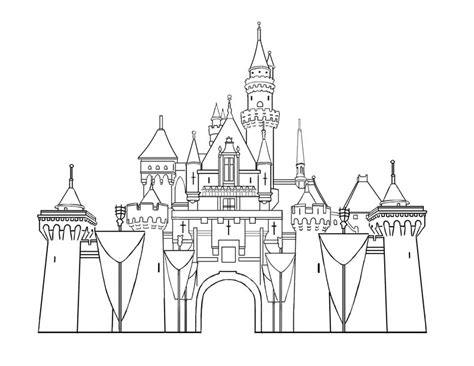 free coloring pages of disney castle to draw