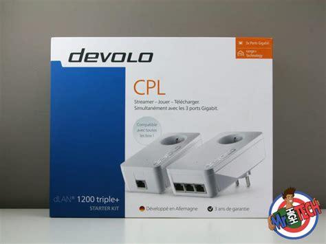 cpl devolo 1200 3751 devolo starter kit test de cpl dlan 1200 et avis