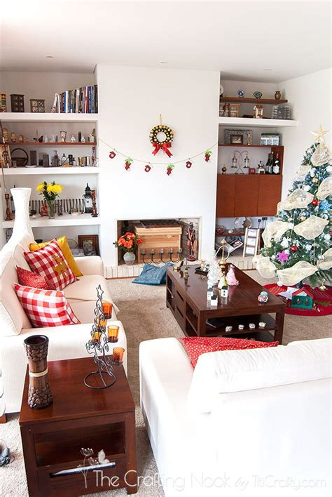 holiday home tour living room decor and the dog christmas decoration home tour 2015 the crafting nook by