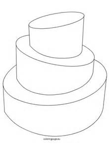 template for cake birthday coloring page