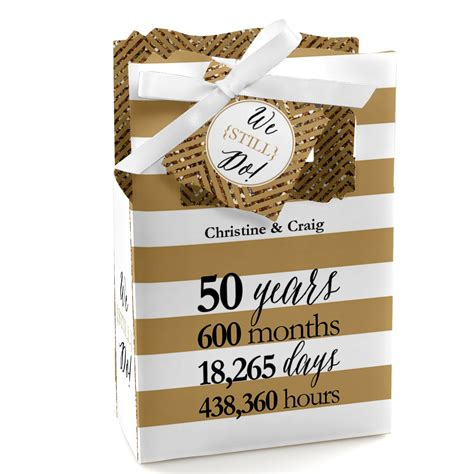 Wedding Anniversary Favors by We Still Do 50th Wedding Anniversary Favor Boxes Custom