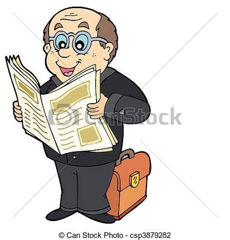 clipart uomo illustrazioni vettoriali di giornale uomo affari cartone