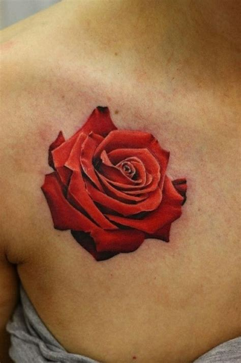 24 collar bone rose tattoos