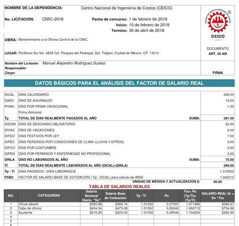como calcular el sdi 2016 tabla de salario diario integrado 2016 tabla factor