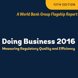 world bank business report world bank doing business 2016 report released