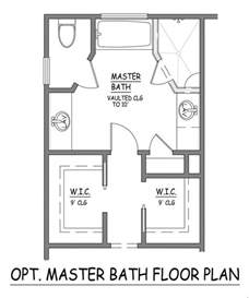 Master Bedroom Bathroom Floor Plans by Master Bath Floor Plans Toilets Master