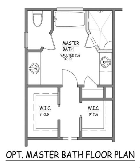 Master Bathroom Floor Plans With Walk In Closet by Master Bath Floor Plans Pinterest Toilets Master
