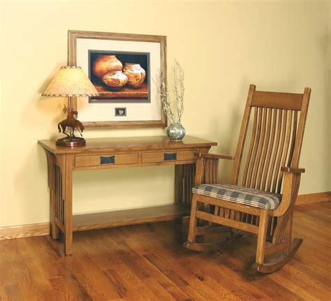 Mission Style White Oak Foyer Furniture Craftsman Side Mission Style Oak Foyer Furniture