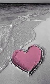 beach   pink heart drawn   sand iphone wallpaper background lifes  beach