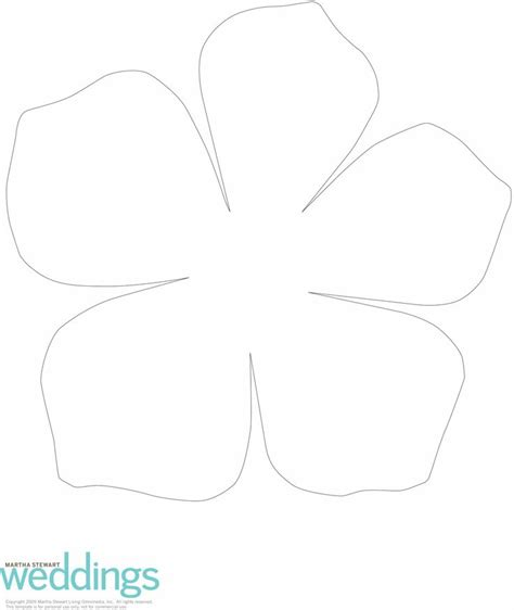 Flower Petal Template Flower Template And Stencils On Hawaiian Flower Template
