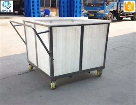 wheeled laundry rotational molding wheeled laundry cart for aquaculture