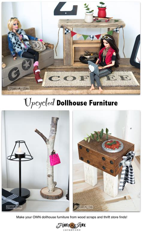 Upcycled barbie doll house revealfunky junk interiors
