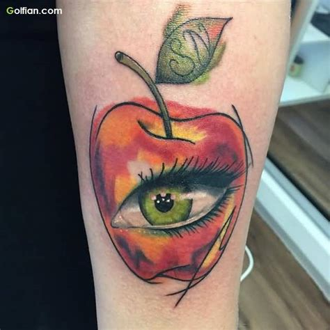 apple of my eye tattoo designs 60 wonderful apple designs best animated