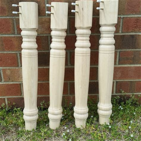 turned table legs unfinished shop wood table legs on wanelo