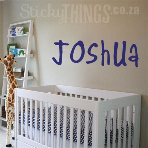 wall stickers personalised personalised name wall sticker large stickythings co za