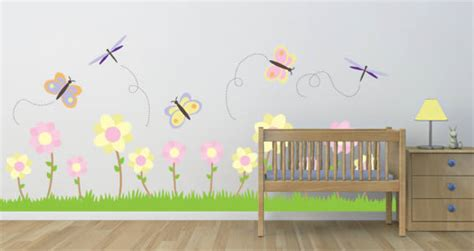 garden wall stickers pastel garden wall decal pack dezign with a z
