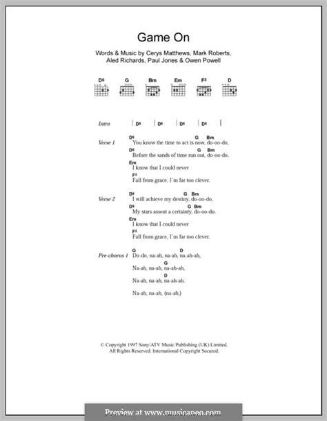 Game on (Catatonia) von A. Richards, C. Matthews, M