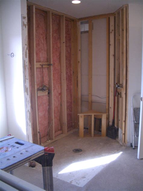 framing a shower bench building a bench for your shower