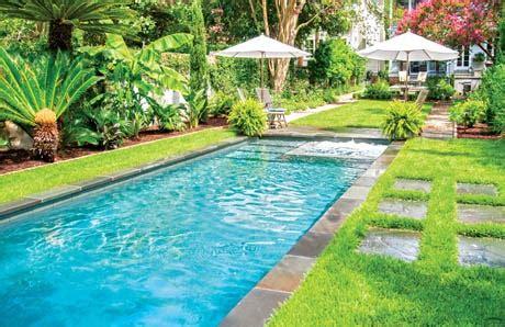 swimming pool decks  grass lawnsin