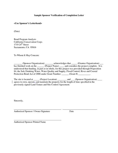 project completion letter format project completion letter format best template collection