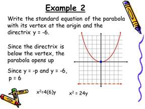 10 2 parabolas where is the focus and directrix compared
