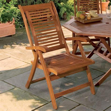 Lanai Furniture Lanai Shorea Wood Adjustable Patio Chair